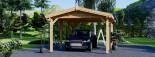 Tettoia auto in legno CLASSIC 3x6 m visualization 6