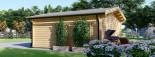 Casetta in legno da giardino MIA (44+44 mm, coibentata), 5.5x5.5 m, 30 mq visualization 5