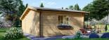 Casetta in legno CLARA con tettoia integrata (44 mm) 7x4 m 28 mq visualization 4