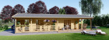 Casa in legno TOSCANA (66 mm) 53 mq + 29 mq di porticato visualization 9