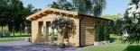 Casetta in legno da giardino MIA (44+44 mm, coibentata), 5.5x5.5 m, 30 mq visualization 4