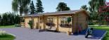 Casa in legno coibentata TOSCANA 53 mq + 29 mq di porticato visualization 6