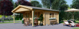 Casetta da giardino CAMILA (66 mm) 6x4 m 24 mq + 11 mq di porticato visualization 1
