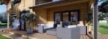 Casa in legno HOLLAND (66 mm) 113 mq + 13.25 di porticato visualization 10