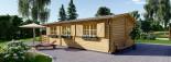 Casa in legno HYMER (66 mm) 42 mq + 10 mq di porticato visualization 4