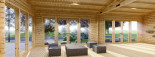 Casa in legno MARINA (66 mm) 8x6 m 48 mq visualization 9