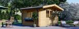 Casetta da giardino RENNES (34 mm) 4x3 m 12 mq senza pavimento visualization 1