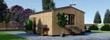 Casetta in legno TINA 5.5x5 m 22 mq + 5.5 mq di porticato visualization 5