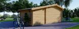 Casetta in legno ISLA (44 mm) 18 mq + 7 mq di porticato visualization 5