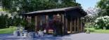Casetta in legno da giardino MIA (44+44 mm, coibentata), 5.5x5.5 m, 30 mq visualization 9