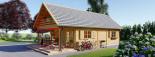 Casa in legno coibentata AURA 100 mq + 35 mq di porticato visualization 5