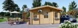 Casa in legno DIJON (44 mm) 44 mq visualization 6