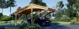 Tettoia auto in legno CORA 3x5.9 m visualization 2