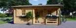 Casa in legno coibentata NANTES 24 mq + 3.45 mq di porticato visualization 3