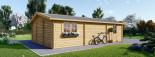 Garage in legno doppio (44 mm) 6x9 m visualization 7