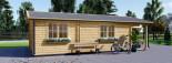 Casa in legno coibentata ARGO 35 mq + 8 mq di porticato visualization 6