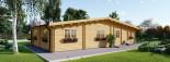 Casa in legno coibentata RIVIERA 100 mq + 20 mq di porticato visualization 7