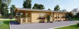 Casa in legno TOSCANA (66 mm) 53 mq + 29 mq di porticato visualization 4