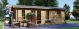 Casetta in legno LEA con tettoia integrata (44 mm) 7x4 m 28 mq visualization 2