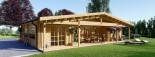 Casa in legno coibentata RIVIERA 100 mq + 20 mq di porticato visualization 1