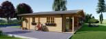 Casa in legno coibentata RIVIERA 100 mq + 20 mq di porticato visualization 10