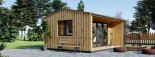 Casetta in legno TINA 5.5x5 m 22 mq + 5.5 mq di porticato visualization 6