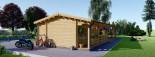 Casa in legno TOSCANA (66 mm) 53 mq + 29 mq di porticato visualization 7