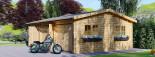 Garage in legno triplo (44 mm) 9x6 m  visualization 6