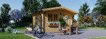 Casetta da giardino DREUX (44 mm) 4x3 m 12 mq visualization 5