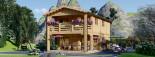 Casa in legno TOULOUSE (66 mm) 100 mq + 20 mq di porticato visualization 2