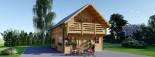 Casa in legno coibentata LANGON 95 mq con 2 balconi visualization 2
