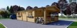 Casa in legno HYMER (66 mm) 42 mq + 10 mq di porticato visualization 6