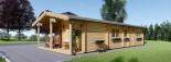 Casa in legno LINCOLN (66 mm) 60 mq + 10 mq di porticato visualization 3
