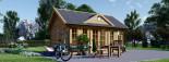 Casetta da giardino coibentata CLOCKHOUSE 5.5x4 m 22 mq visualization 3