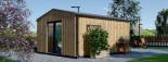 Casetta in legno TINA 4x4 m 12 mq + 3.5 mq di porticato visualization 5
