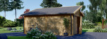Garage in legno TWIN (44 mm) 4x6 m  visualization 6