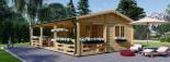 Casa in legno AMELIA (44 mm) 32 mq + 20 mq di porticato visualization 1