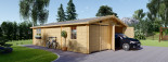 Garage in legno doppio (44 mm) 6x9 m visualization 1