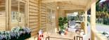 Casa in legno AMELIA (44 mm) 32 mq + 20 mq di porticato visualization 9