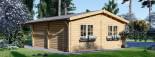 Garage in legno doppio (44 mm) 6x6 m + tettoia auto in legno 3x6 m visualization 6