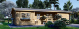 Casa in legno coibentata UZES 70 mq visualization 2