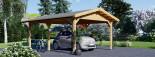 Tettoia auto in legno 5.5x4.2 m visualization 6
