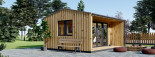 Casetta in legno TINA 4x4 m 12 mq + 3.5 mq di porticato visualization 7