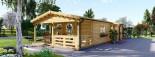 Casa in legno TOSCANA (66 mm) 53 mq + 29 mq di porticato visualization 3