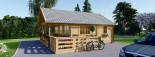 Casa in legno ANGERS (44 mm) 36 mq + terrazza 19 mq  visualization 5
