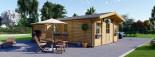 Casa in legno DIJON (44 mm) 44 mq visualization 2