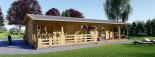Casa in legno coibentata TOSCANA 53 mq + 29 mq di porticato visualization 8