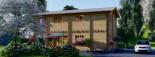 Casa in legno TOULOUSE (66 mm) 100 mq + 20 mq di porticato visualization 8
