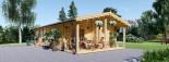 Casa in legno LINCOLN (66 mm) 60 mq + 10 mq di porticato visualization 9