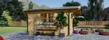 Casa in legno NINA due stanze (44 mm) 6x6 m 36 mq visualization 7
